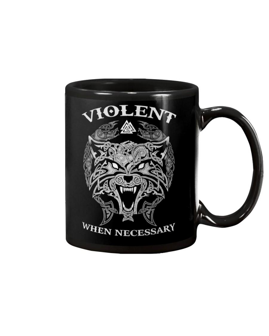 Violent When Necessary Wolf Mug