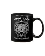 Violent When Necessary Wolf Mug front