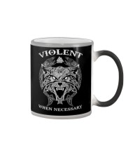 Violent When Necessary Wolf Color Changing Mug thumbnail