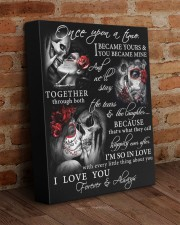 Skull Once Upon A Time GG 11x14 Gallery Wrapped Canvas Prints aos-canvas-pgw-11x14-lifestyle-front-09