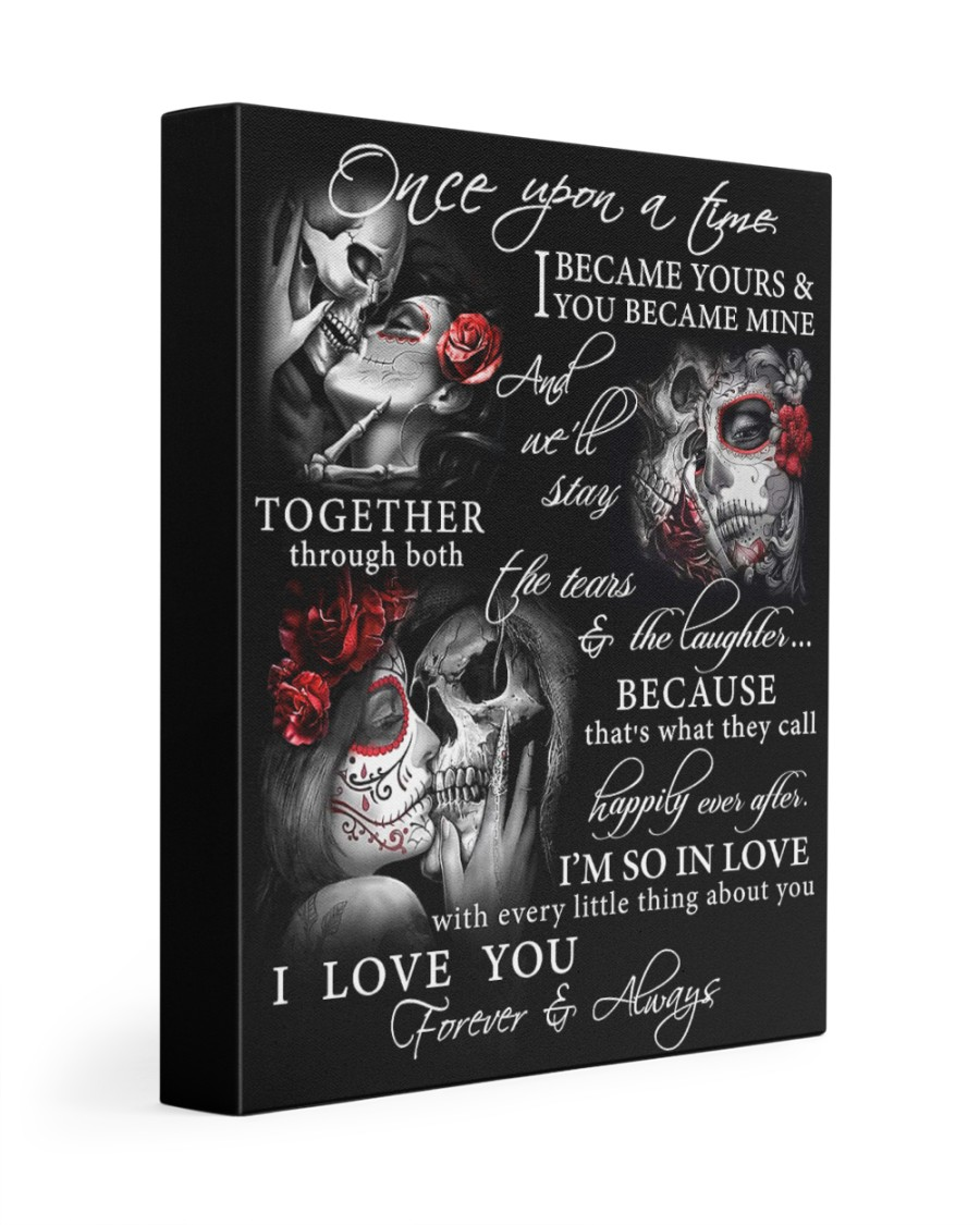 Skull Once Upon A Time GG 11x14 Gallery Wrapped Canvas Prints
