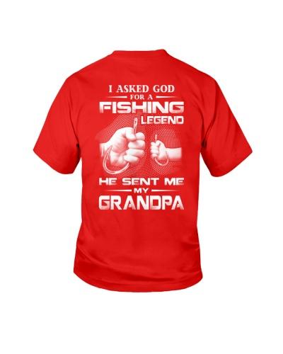 I Asked God For A Fishing Legend Grandpa