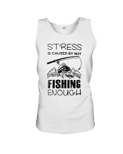Stress Is Caused By Not Fishing Enough Unisex Tank thumbnail