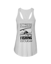 Stress Is Caused By Not Fishing Enough Ladies Flowy Tank thumbnail