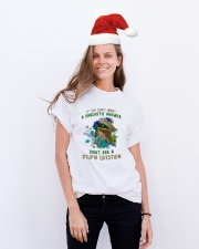 Don't Ask A Stupid Question Dinosaur Classic T-Shirt lifestyle-holiday-crewneck-front-1