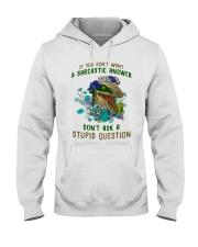 Don't Ask A Stupid Question Dinosaur Hooded Sweatshirt thumbnail