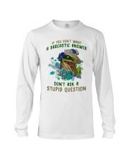 Don't Ask A Stupid Question Dinosaur Long Sleeve Tee thumbnail