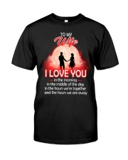 To My Wife I love You In The Morning Family  Classic T-Shirt thumbnail