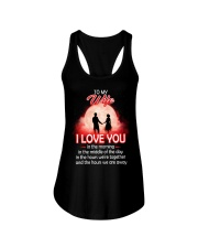 To My Wife I love You In The Morning Family  Ladies Flowy Tank thumbnail