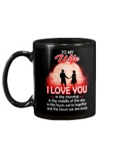 To My Wife I love You In The Morning Family  Mug back