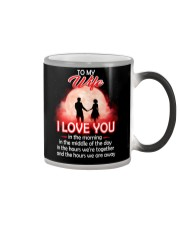 To My Wife I love You In The Morning Family  Color Changing Mug thumbnail