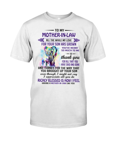 To My Mother-In-Law Elephant