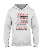 Family Husband The Clock The Moon Hooded Sweatshirt thumbnail
