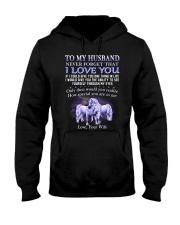 Never Forget That I Love You Unicorn Husband Hooded Sweatshirt thumbnail