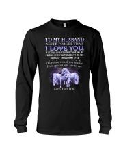 Never Forget That I Love You Unicorn Husband Long Sleeve Tee thumbnail