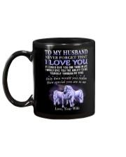 Never Forget That I Love You Unicorn Husband Mug back