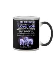 Never Forget That I Love You Unicorn Husband Color Changing Mug thumbnail