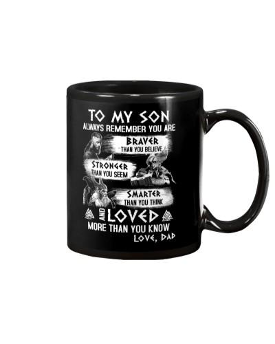 Son Always Remember Viking Mug