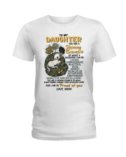 To My Daughter You Are A Shining Example Unicorn Ladies T-Shirt thumbnail