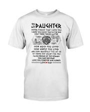Viking Daughter Dad Three Things Mug Classic T-Shirt thumbnail