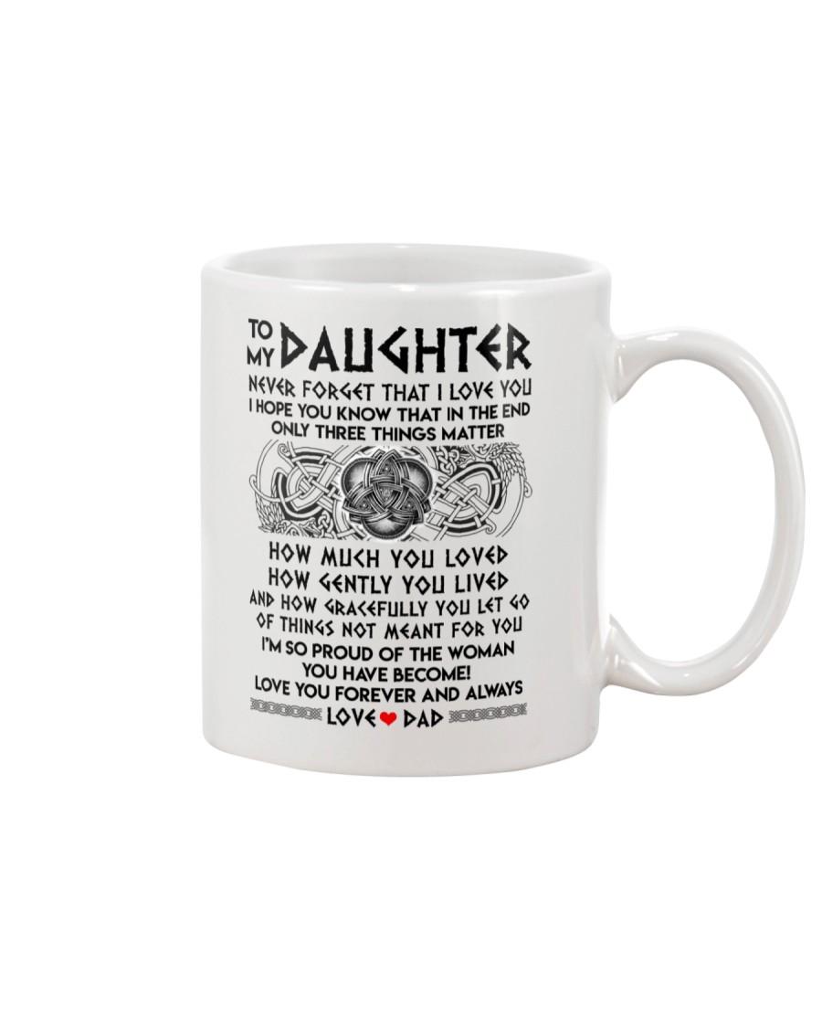 Viking Daughter Dad Three Things Mug Mug