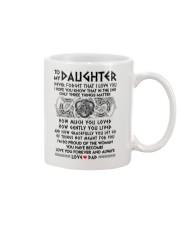 Viking Daughter Dad Three Things Mug Mug front