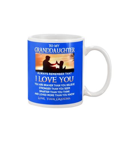 Family Granddaughter Grandma I Love You