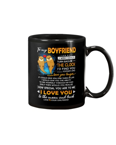 Otter Boyfriend Clock Ability Moon Mug