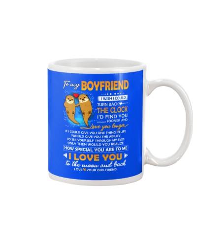 Otter Boyfriend Clock Ability Moon Mug