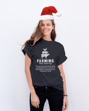 Farmer  Classic T-Shirt lifestyle-holiday-crewneck-front-1
