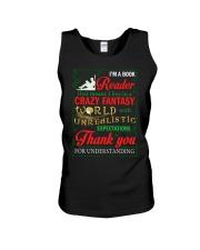 I'm A Book Reader Crazy Fantasy World Christmas Unisex Tank thumbnail
