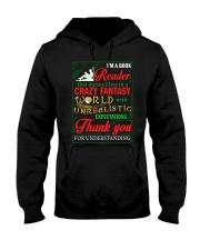 I'm A Book Reader Crazy Fantasy World Christmas Hooded Sweatshirt thumbnail