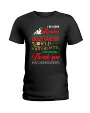 I'm A Book Reader Crazy Fantasy World Christmas Ladies T-Shirt thumbnail