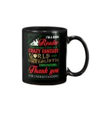 I'm A Book Reader Crazy Fantasy World Christmas Mug front