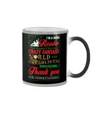 I'm A Book Reader Crazy Fantasy World Christmas Color Changing Mug thumbnail