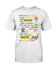You Are My Sunshine My Only Sunshine Cat Classic T-Shirt thumbnail