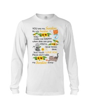 You Are My Sunshine My Only Sunshine Cat Long Sleeve Tee thumbnail