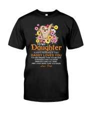 Sloth Daughter Dad Daddy Loves You Classic T-Shirt thumbnail
