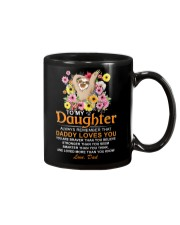 Sloth Daughter Dad Daddy Loves You Mug front