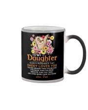 Sloth Daughter Dad Daddy Loves You Color Changing Mug thumbnail
