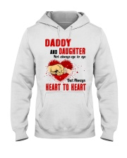 Daddy And Daughter Not Always Eyes To Eyes Family Hooded Sweatshirt thumbnail