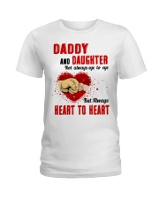 Daddy And Daughter Not Always Eyes To Eyes Family Ladies T-Shirt thumbnail