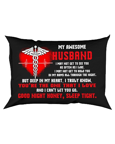 Nurse Husband Good Night Sleep Tight Pillow