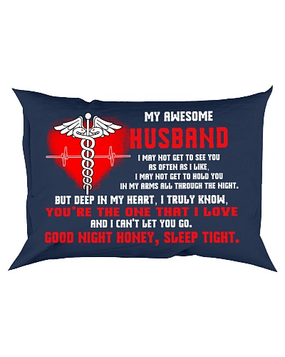 Nurse Husband Good Night Sleep Tight Pillow