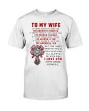 Firefighter Wife The Answer Is You Classic T-Shirt tile