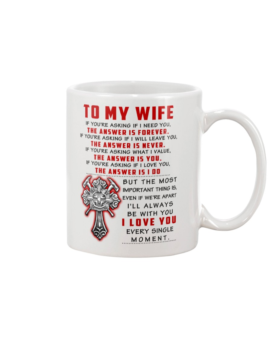 Firefighter Wife The Answer Is You Mug