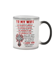 Firefighter Wife The Answer Is You Color Changing Mug thumbnail