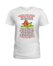 Dinosaur Girlfriend I Love You Most Ladies T-Shirt thumbnail