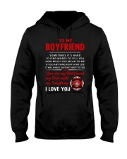 Firefighter Anything Right In My Life Boyfriend Hooded Sweatshirt thumbnail