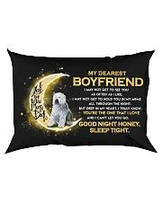 Sheepdog Boyfriend Sleep Tight  Rectangular Pillowcase back